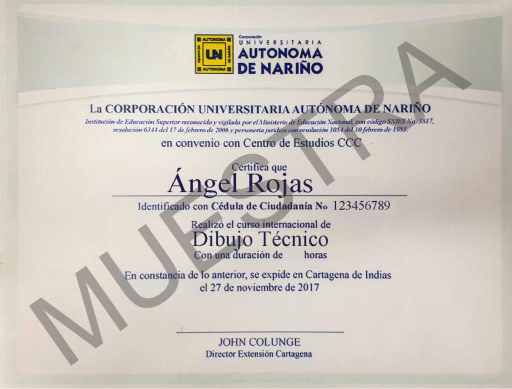 Diploma CCC curso de dibujo técnico