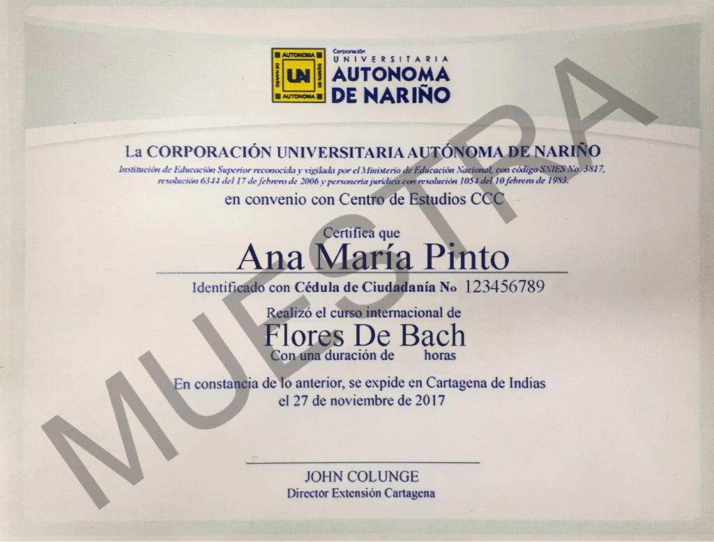 diploma del curso de flores de bach cursos ccc