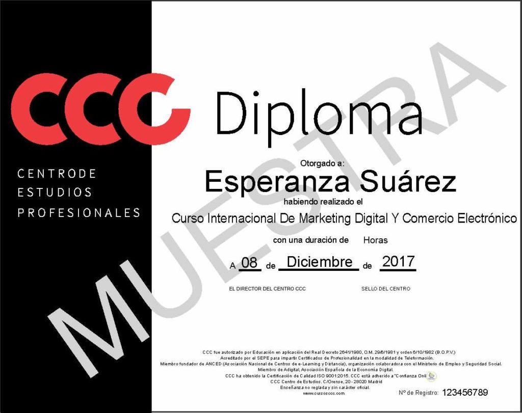 curso de marketing digital y comercio electrónico de cursos ccc