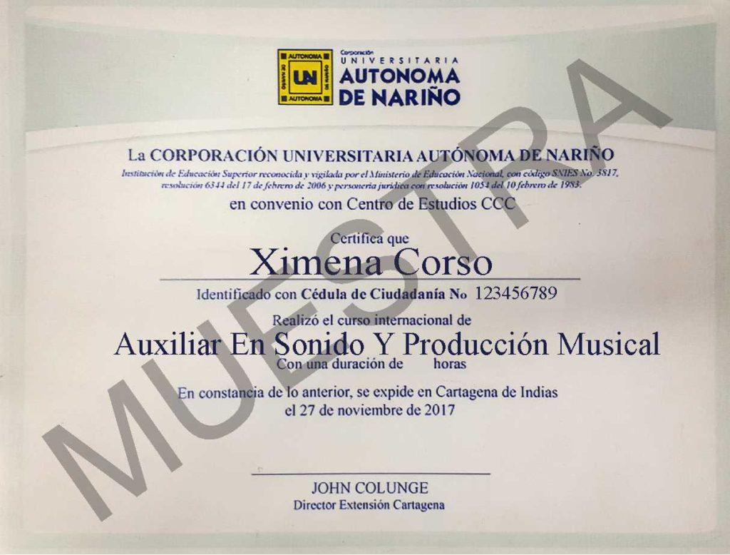 curso de auxiliar en sonido y producción musical