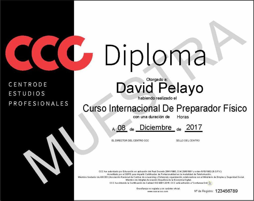 curso de preparador físico de cursos ccc